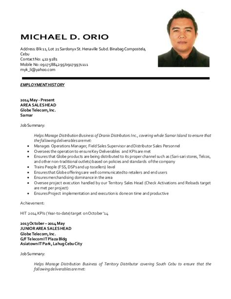 Resume Sle Format For Service Crew Update Resume Mdorio