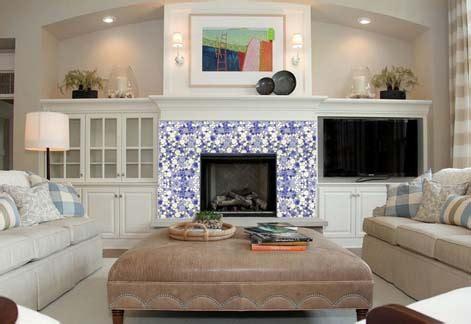 Tile Stickers For Fireplace by Wholesale Collection Mixed Porcelain Pebble Tile Sheets
