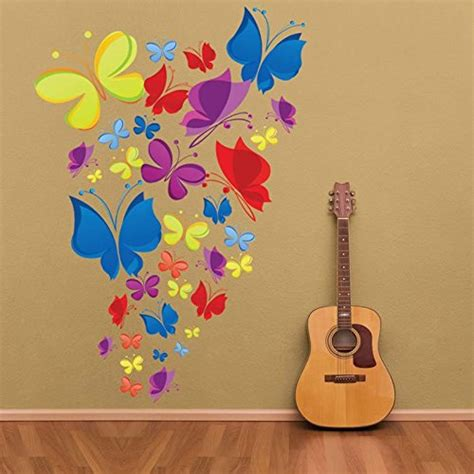 cool wall stickers to complete kids room decor digsdigs wall decals rainbow of butterflies easy peel stick