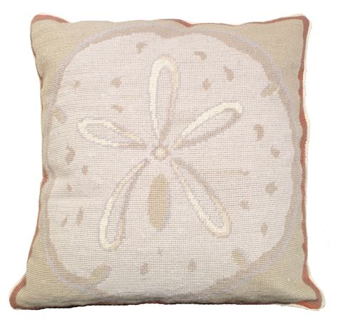 Sand Dollar Pillows by Ncu 809 Sand Dollar Pillow 18 Quot X18 Quot Needlepoint Pillow