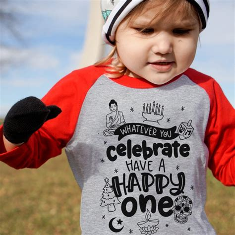 favorite multi denominational kids holiday tees   happy hanukkah merry christmas