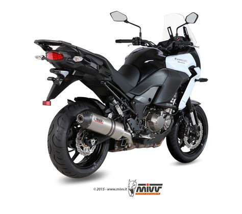 Kawasaki Versys 1000 2016 Slip On Line Titanium Partnos K10so14 Hzt kawasaki versys 1000 exhaust mivv oval titanium with carbon cap k 040 lnc mivv