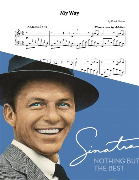 frank sinatra final curtain quot my way quot frank sinatra piano sheet music