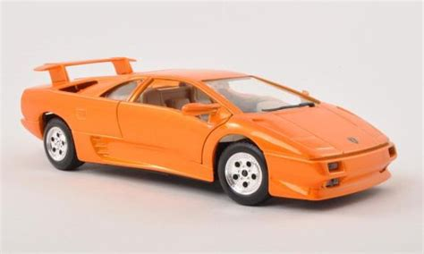 Lamborghini Diablo Orange Lamborghini Diablo Orange Burago Diecast Model Car 1 24