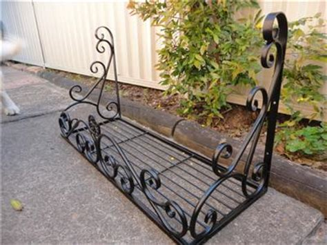 wrought iron window flower boxes wrought iron style wall flower pot plant holder