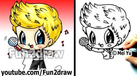 one direction niall horan drawing tutorial 1d chibi one