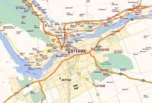 map of ottawa ontario canada ottawa map