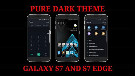 s7 edge free themes pure dark theme for galaxy s7 and s7 edge tema pure dark