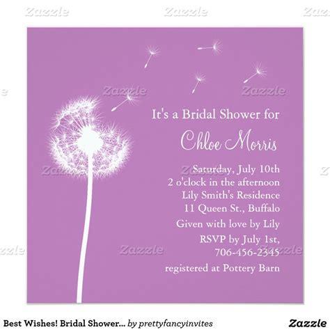 Best Wishes! Bridal Shower Invitation (purple)   Zazzle