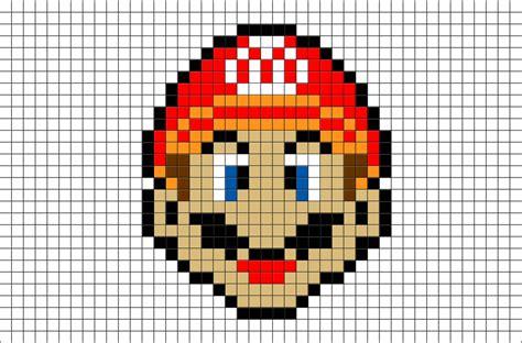 mario pixel art brik