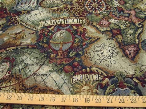 Collection of magellan s quest old world map upholstery fabric multi magellan old world map tapestry jewel gumiabroncs Image collections