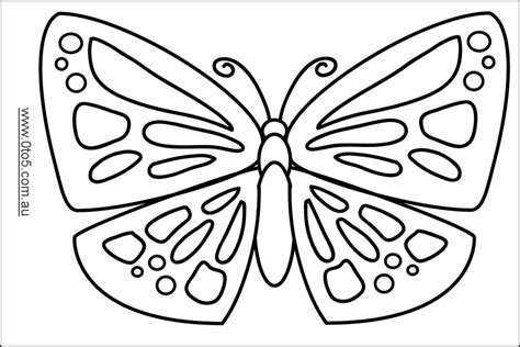 printable butterfly template butterfly template printable coloring home