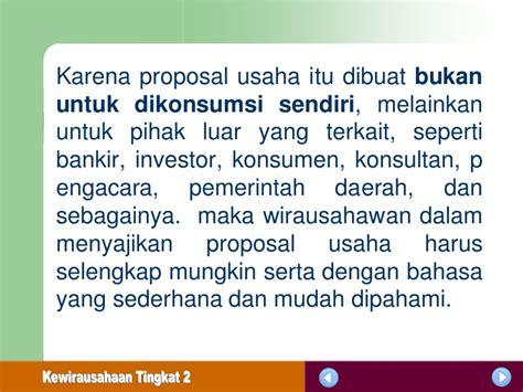 membuat proposal bisnis untuk investor menyusun proposal usaha tm2