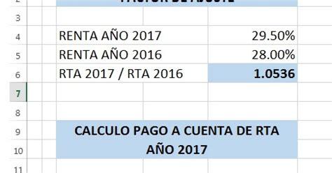 pago a cuenta renta 2016 informacion contable tributaria y laboral martin cortez
