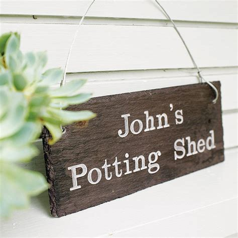 Personalised Signs For Sheds personalised engraved slate shed sign by winning works