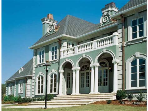 neoclassical homes home plan homepw09577 5130 square foot 4 bedroom 3 bathroom neoclassical home with 3 garage