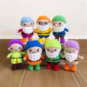 Seven dwarfs crochet amigurumi pattern free snacksies handicraft