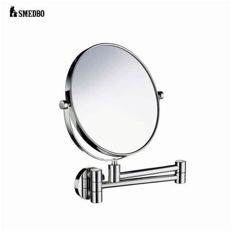 swing arm bathroom mirror smedbo outline swing arm shaving make up mirror uk bathrooms