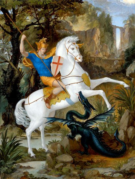 saint george and the dragon give evil beings spiritual death with your spiritual sword metatech