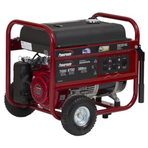 shop powermate 7 000 running watt portable generator with