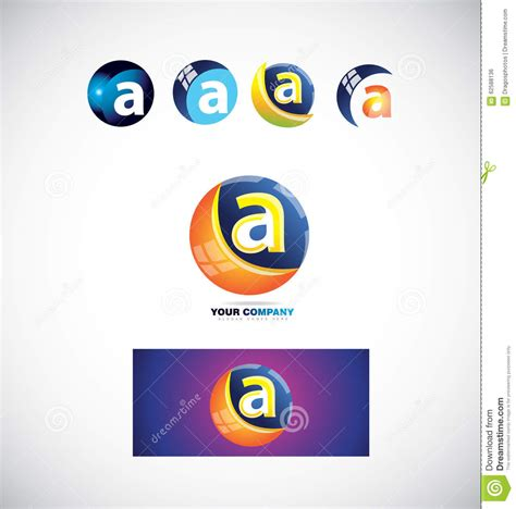 Letter A Sphere Logo Icon 3d Stock Vector Image 62588136 Vector Company Logo Element Template