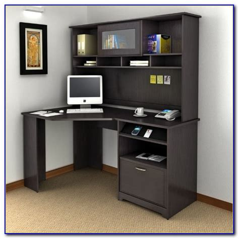 bush furniture cabot corner desk bush cabot corner desk with hutch and bookcase desk