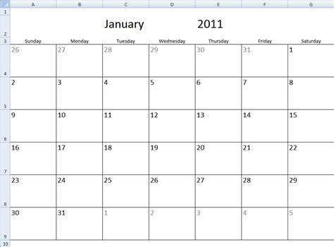 Monthly calendar template in excel get digital help microsoft