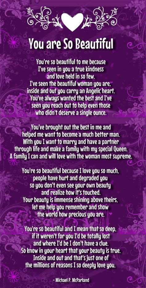 poems your your so beautiful poems quotes for