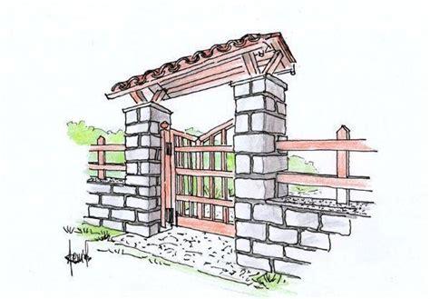 disegno tettoia in legno cancello in legno con pensilina un progetto rustico