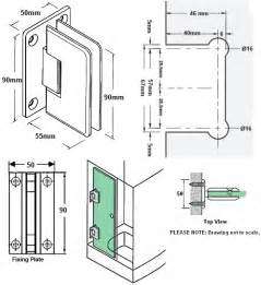 wall to glass shower door hinge in satin finish