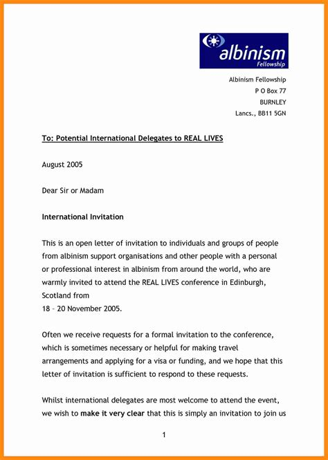 Format Of Letter For The Event 9 Event Invitation Email Sle Graphic Resume