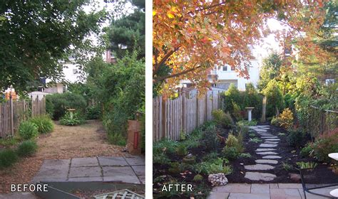 Small Backyard Ideas Before After Staging Before After Garden Home Staging Make Walkways Gardens And Yards