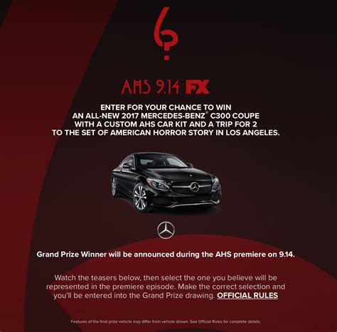 American Horror Story Sweepstakes Winner - ahs 6 contest to win a new car geek out with cherry los angeles