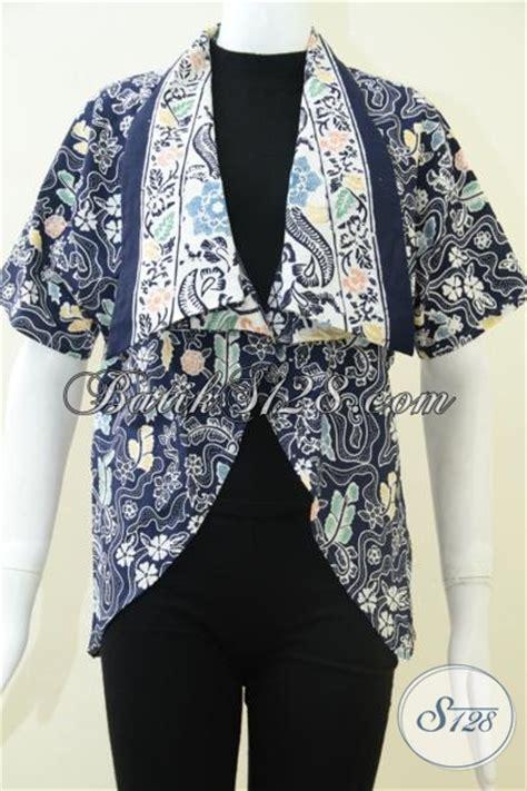 Jaket Anak Warna Biru Keren bolero blazer batik warna biru cantik keren cocok untuk