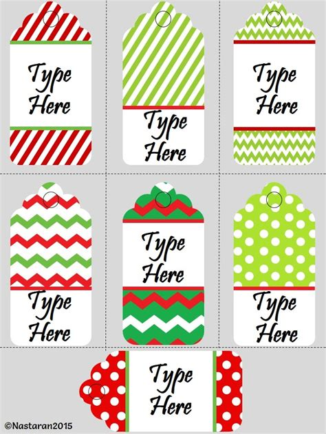 printable and editable christmas gift tags editable christmas gift tags medium size gt nastaran s