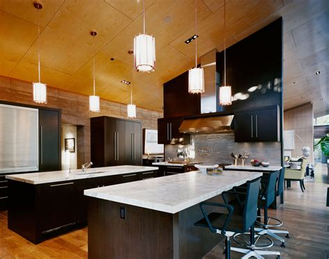 Kitchen Island Bar Lights Imposing Contemporary Home In Aspen Colorado