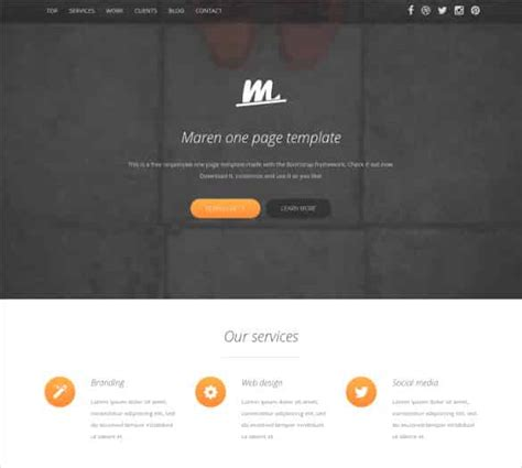 bootstrap website templates one page 83 free bootstrap themes templates free premium