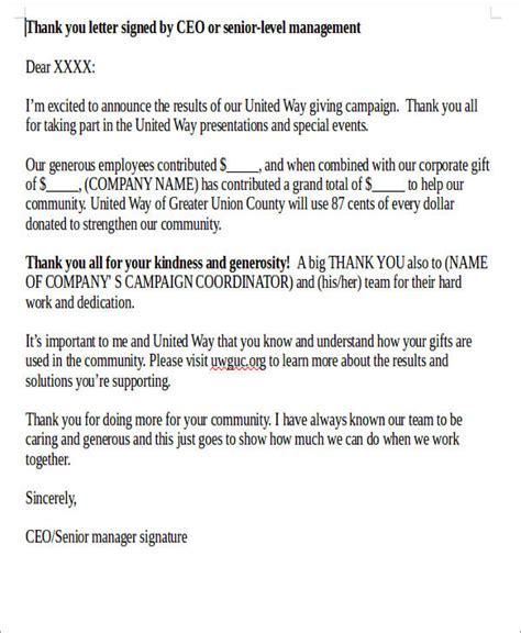appreciation letter to project manager 50 appreciation letter sles sle templates