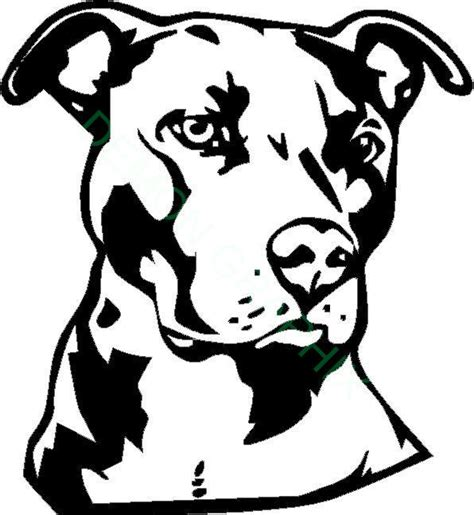 pit bull face vinyl decal sticker dog pitt animal pet