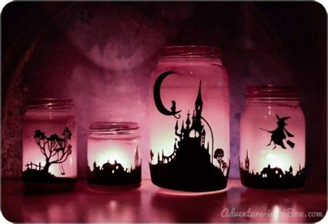 themes mekar jar 19 creepy halloween mason jar crafts