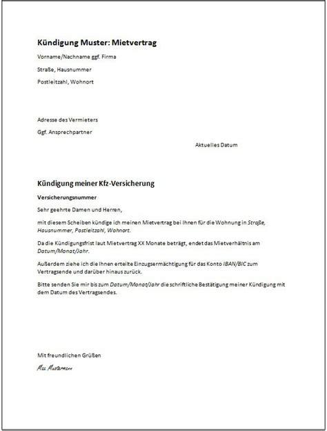 fristlose kündigung wohnung muster vermieter k 252 ndigung mietvertrag vermieter vorlage k 252 ndigung