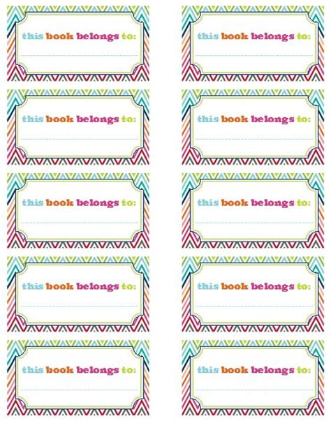 printable book label 14 best bookplate labels book label templates images on