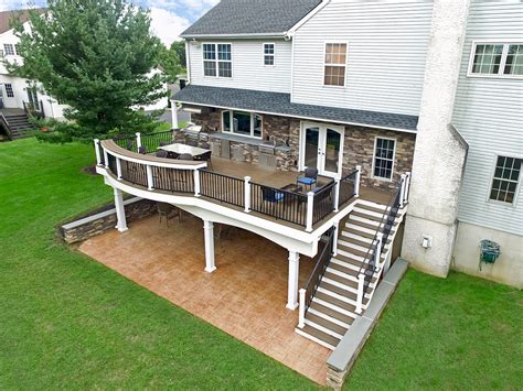 custom trex deck stamped concrete patio north whales