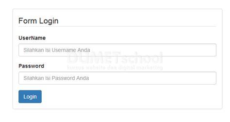 membuat form login dengan php codeigniter cara membuat form login menggunakan codeigniter