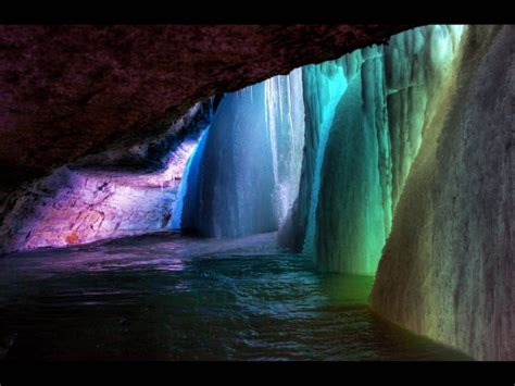 frozen waterfall wallpaper rainbow frozen waterfall wallpapers and images