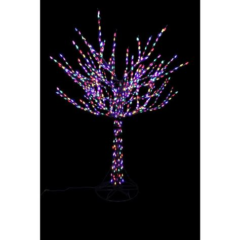 pre lit tree with white and colored lights home accents 8 ft pre lit led bare branch tree