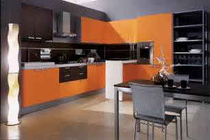 Orange Kitchen Design Modern House Luxury Orange Interior Design Kitchen