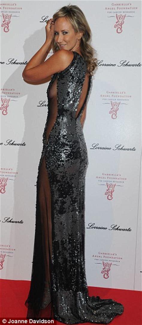 lady victoria hervey flaunts sideboob  racy sheer dress