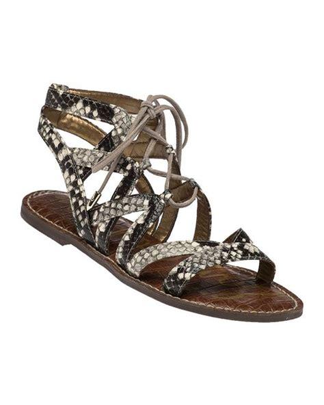 Sepatu Sneaker Snake Leather Semprem 01 7 sam edelman gemma snakeskin print gladiator sandals in multicolor lyst