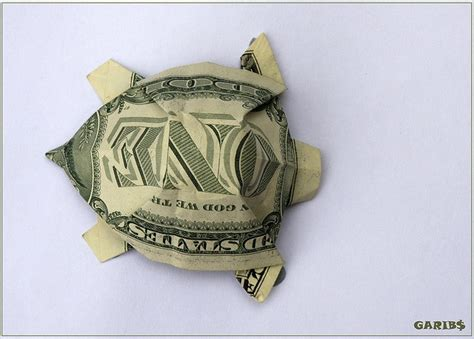 Turtle Origami Dollar Bill - turtle turtle dollar origami and origami